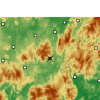 Nearby Forecast Locations - Yizhang - Mapa