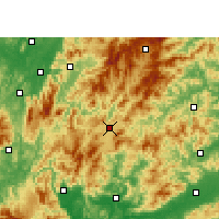 Nearby Forecast Locations - Rucheng - Mapa