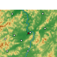 Nearby Forecast Locations - Ganzhou - Mapa