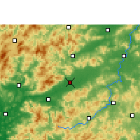 Nearby Forecast Locations - Nanxiong - Mapa