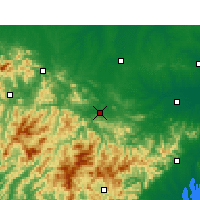 Nearby Forecast Locations - Huoshan - Mapa