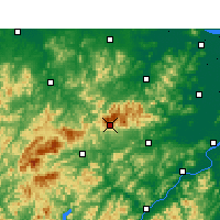 Nearby Forecast Locations - Tianmu Mountain - Mapa