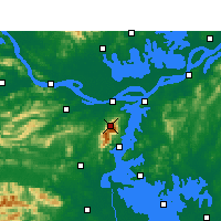 Nearby Forecast Locations - Lushan - Mapa