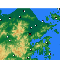 Nearby Forecast Locations - Fenghua - Mapa
