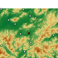 Nearby Forecast Locations - Yongkang - Mapa