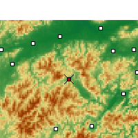 Nearby Forecast Locations - Suichang - Mapa