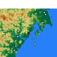 Nearby Forecast Locations - Yueqing - Mapa