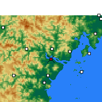 Nearby Forecast Locations - Wenzhou - Mapa