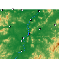 Nearby Forecast Locations - Jishui - Mapa