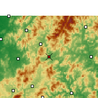 Nearby Forecast Locations - Shaowu - Mapa