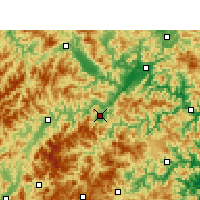 Nearby Forecast Locations - Yunhe - Mapa