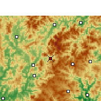 Nearby Forecast Locations - Qingyuan - Mapa
