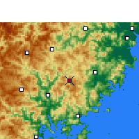 Nearby Forecast Locations - Zherong - Mapa