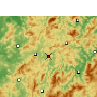 Nearby Forecast Locations - Qingliu - Mapa