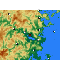 Nearby Forecast Locations - Fuzhou - Mapa