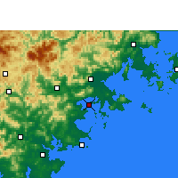 Nearby Forecast Locations - Xiuyugang - Mapa