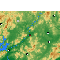 Nearby Forecast Locations - Longchuan - Mapa