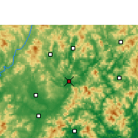 Nearby Forecast Locations - Meixian - Mapa
