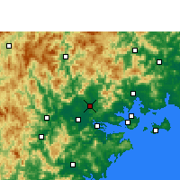 Nearby Forecast Locations - Changtai - Mapa