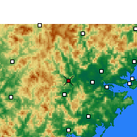 Nearby Forecast Locations - Nanjing/FUJ - Mapa