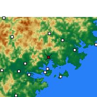 Nearby Forecast Locations - Tong'an - Mapa