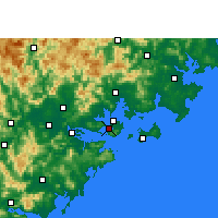 Nearby Forecast Locations - Xiamen - Mapa