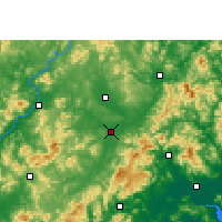 Nearby Forecast Locations - Wuhua - Mapa