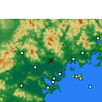 Nearby Forecast Locations - Chaozhou - Mapa