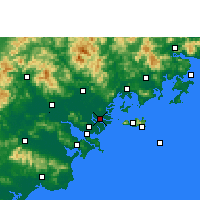 Nearby Forecast Locations - Denghai - Mapa