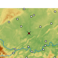 Nearby Forecast Locations - Fushun - Mapa