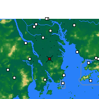 Nearby Forecast Locations - Zhongshan/GUD - Mapa