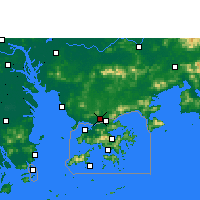 Nearby Forecast Locations - Shenzhen - Mapa