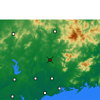 Nearby Forecast Locations - Gaozhou - Mapa