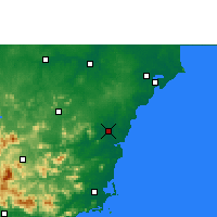 Nearby Forecast Locations - Qionghai - Mapa