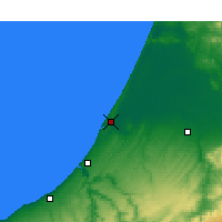 Nearby Forecast Locations - Kenitra - Mapa