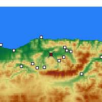 Nearby Forecast Locations - Tizi Ouzou - Mapa