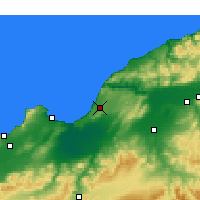 Nearby Forecast Locations - Mostaganem - Mapa