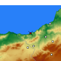 Nearby Forecast Locations - Ghazaouet - Mapa