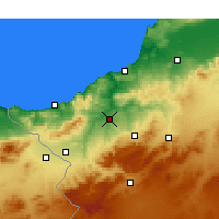 Nearby Forecast Locations - Tremecén - Mapa
