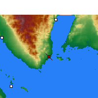 Nearby Forecast Locations - Sharm el-Sheij - Mapa