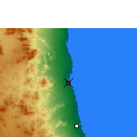 Nearby Forecast Locations - Puerto Sudán - Mapa