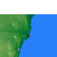 Nearby Forecast Locations - Malindi - Mapa