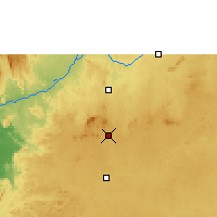 Nearby Forecast Locations - Yaundé - Mapa