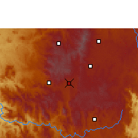 Nearby Forecast Locations - Antsirabe - Mapa