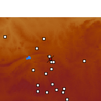 Nearby Forecast Locations - Pretoria - Mapa