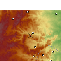 Nearby Forecast Locations - Nelspruit - Mapa