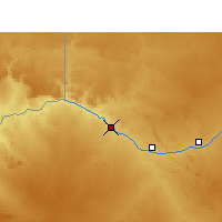 Nearby Forecast Locations - Cataratas Augrabies - Mapa