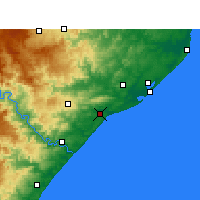 Nearby Forecast Locations - Mtunzini - Mapa