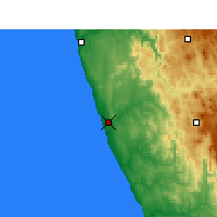 Nearby Forecast Locations - Koingnaas - Mapa