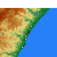 Nearby Forecast Locations - Tongaat - Mapa